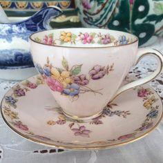 Vintage 1930 FOLEY Teacup Set Vintage Tea Cup by ShamadorHouse