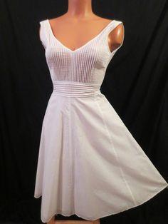 J Crew White Cotton Retro Dress - $24.99 at JOHNNY BOMBSHELL