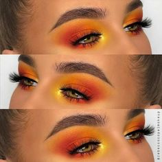 Beautiful Sunrise Eye Makeup created by @receccacapelmakeup working with our Playhouse Palette and wearing stunning West End Lashes | Vegan & Cruelty-Free | londoncopyright.com #EyeMakeupCutCrease Crazy Eye Makeup, Halo Eye Makeup, Orange Eye Makeup, Korean Eye Makeup, Dramatic Eye Makeup, Creative Eye Makeup, Eye Makeup Art, Colorful Eye Makeup, Summer Eye Makeup