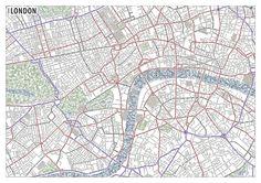 London   Typographic Maps