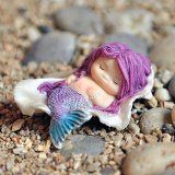 Miniature Fairy Garden Little Mermaid in Seashell $8.79 www.mermaidhomedecor.com - Mermaid NEW (2)