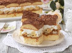 Ciasto ,,Puszek '' siostry Anastazji. Poland Food, Tiramisu, Caramel, Diy And Crafts, Food And Drink, Ethnic Recipes, Cakes, Kitchens, Recipes
