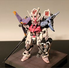 【CREAM BREAD】SD GAT-X105 Strike & MBF-02 Strike Rouge Gundam Full Weapon