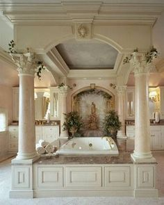 Luxury Bathroom Master Baths Dark Wood is very important for your home. Whether you choose the Luxury Bathroom Ideas or Bathroom Ideas Apartment Design, you will make the best Luxury Bathroom Master Baths Marble Counters for your own life. Romantic Bathrooms, Dream Bathrooms, Dream Rooms, Beautiful Bathrooms, Luxury Bathrooms, Mansion Bathrooms, Master Bathrooms, Master Bedroom, Royal Bedroom