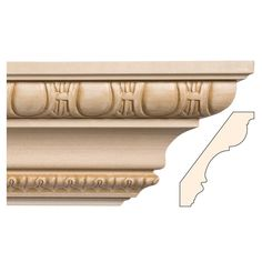 Embellished Hardwood Mouldings, Ornamentally Embossed Mouldings, Cornice Mouldings, Egg & Dart and Lamb's Tongue, 5 x - White River Door Header, Cove Molding, Classic Ceiling, Architrave, Decorative Mouldings, Ceiling Beams, Window Treatments, Lamb, Hardwood