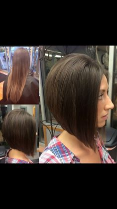 Before/After A-Line Haircut HAIR BY JAYME QUINNELL  #hairdare