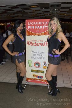 Sac Pin Party at the Sacramento Kings #foreverpurple. We had beautiful Sacramento Kings Dancers stop by our #SacPinParty at the Kings.