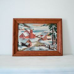 #Vintage Paint by Numbers Wall Hanging