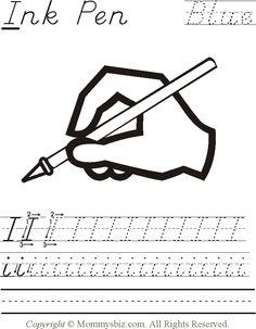 Blue Worksheets Preschool Helpful preschool worksheets for kids.