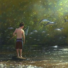 Jimmy Lawor. One of my recurring dreams, fish out of water.