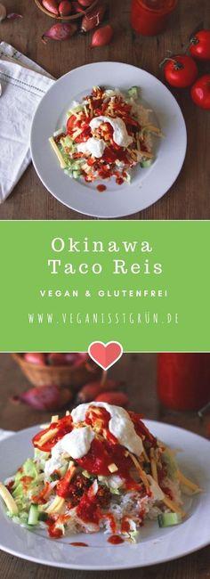 Fusion Food made in Japan. Taco Reis ist auf Okinawa ein beliebtes Gericht, das aus den mexikanischen Tacos entstanden ist. Viel Spaß beim Rezept! Gluten Free Sweets, Gluten Free Recipes, Fusion Food, Okinawa, Made In Japan, Paleo Dinner, Tacos, Side Dishes, Good Food