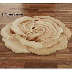 Rosetta Round Flower Shaped Rugs