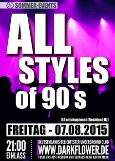 07.08.15 – All Styles of 90's www.darkflower.de