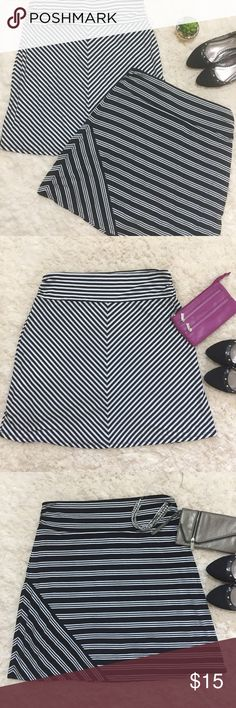 •Faded Glory•2 for 1 Black & White Stripped Skirts Get 2 skirts in this package deal! Both skirts are in EUC. They are very soft, flowy, and have plenty of stretch. Pull on style. Hits just below knee. Bundle and save even more on shipping! Faded Glory Skirts Midi