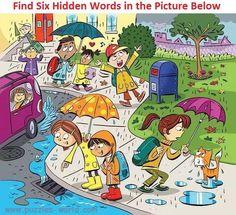 Find Six Hidden Words in the Picture Below