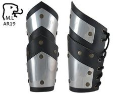 Cuir Véritable Rivets médiéval Bracer paire gant Arm Guard LARP Armour SCA