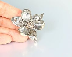 Tiffany & Co jewelry sterling silver Orchid Brooch by RMSjewels