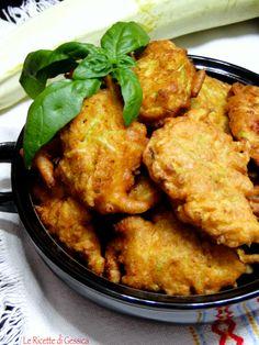 frittelle di zucchine gonfie