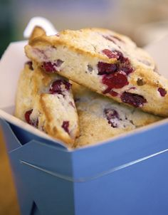 Berry Scones.  To keep the butter cold enough, freeze it first, then grate with a plane grater.