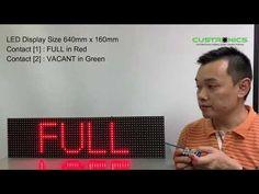 Carpark LED Display Panel l Custronics l Full display l Vacant display l...