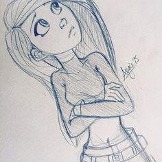 A lot of people tell me my style looks like Kim Possible so.. #angiensca #kimpossible #sketch