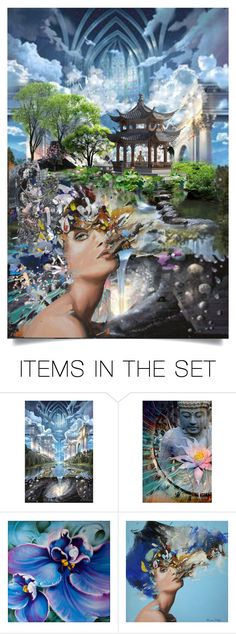 """""""""""We lead our lives like water flowing down a hill, going more or less in one direction until we splash into something that forces us to find a new course.""""  ― Arthur Golden, Memoirs of a Geisha"""" by haikuandkysses ❤ liked on Polyvore featuring art"""