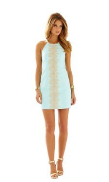 Pearl Lace Detail Shift Dress - Lilly Pulitzer
