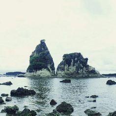Sawarna beach, in Serang banten.