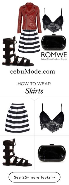 """Striped Skirt"" by cebumode on Polyvore featuring Jeffrey Campbell and Boohoo"