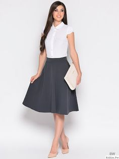 Faldas Bonitas Waist Skirt, Midi Skirt, High Waisted Skirt, Google, Fashion, Templates, Blouse And Skirt, Cute Skirts, Moda