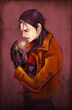 Out of interest, when did it become canon that he smokes?