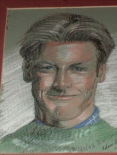 """Male Magazine Model"" Unknown name, Colored Pencil Early 1990's"
