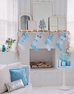 Blue Christmas Decorating