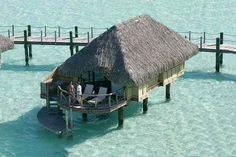 Overwater Bungalow at Bora Bora Pearl Beach Resort & Spa (click the photo for 26 more photos of the resort).