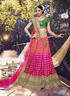 Wedding Wear Art Silk Lehenga Choli