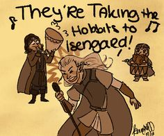 They're taking the hobbits to Isengard.