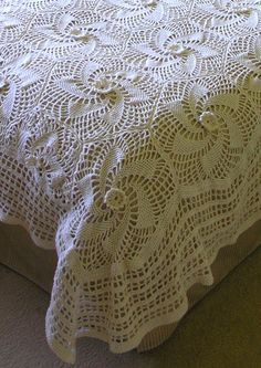 Super Cable Aran Spiral Bedspread  free pattern