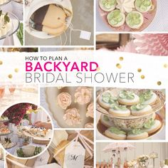 How To Plan Backyard Bridal Shower