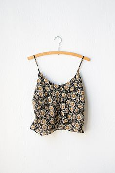 vintage 1990s cropped boho daisy camisole | Scattered Wild Camisole