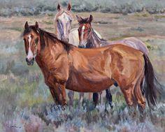 """""""Sand Wash Basin Trio"""", oil 24x30, $1,600.00"""