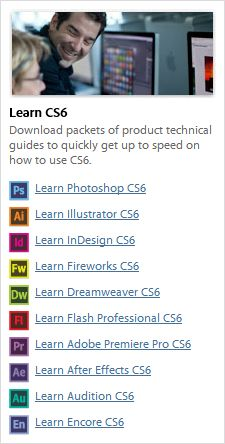 Free Adobe CS6 eBooks — Download 1,022 Pages of New Tutorials | Printed materials are also nice, to use side-by-side at your own pace. How about some free new e-books to go along with those, which you can instantly download and learn from whenever you want? There are 169 chapters in total with over 1,000 pages for most CS6 products. Some tools receive more coverage than others, but the basics are reviewed for all. Download the ebooks in PDF format after signing in with your Adobe ID.