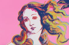 The Venus by Sandro Botticelli (in the Uffizi Gallery, Florence) interpreted by Andy Warhol. 1984.