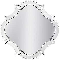 "Cecilia Clear 32"" x 32"" Wall Mirror"