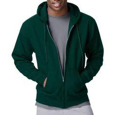 Hanes Men's EcoSmart Fleece Full Zip Hood - Walmart.com