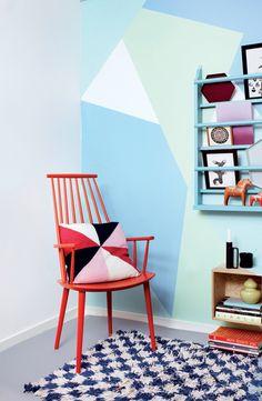 Frisk væggene op: Farverig Geometri - Boligliv