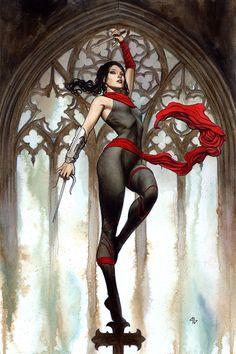 - Elektra #2 variant cover by Adi Granov