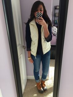 66 New Ideas Duck Boats Outfit Casual Southern Prep Preppy Outfits, Casual Winter Outfits, Preppy Style, Casual Fall, Fall Outfits, Cute Outfits, Outfit Winter, Winter Shoes, Winter Vest