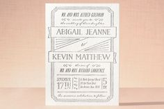 Drawn to Each Other Letterpress Wedding Invitations by Ann Gardner at minted.com