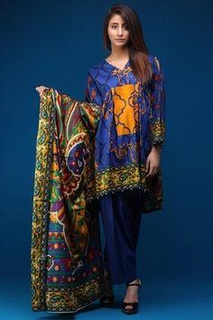 56552cd70e WARDA 3 Piece Lawn Print 3818127 - Blue Pakistani Dresses Online