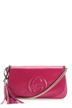 GUCCI Soho patent leather shoulder bag Available on www.wiseboutique.com